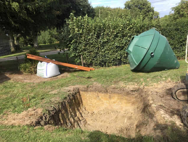 Hole digging for new BioPure sewage treatment plant