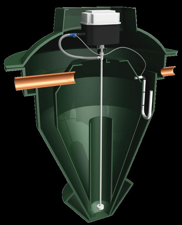 Internal diagram of a BioPure sewage treatment plant system