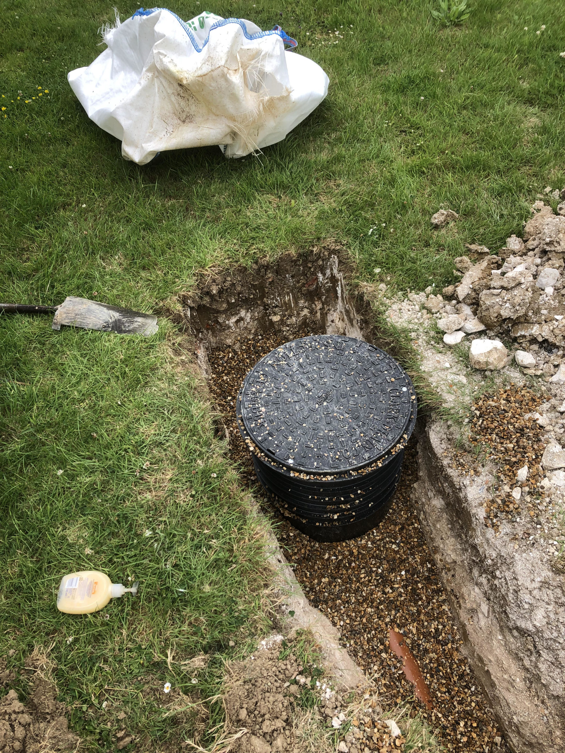 manhole and risers for biopure sewage treatment plant installation east sussex
