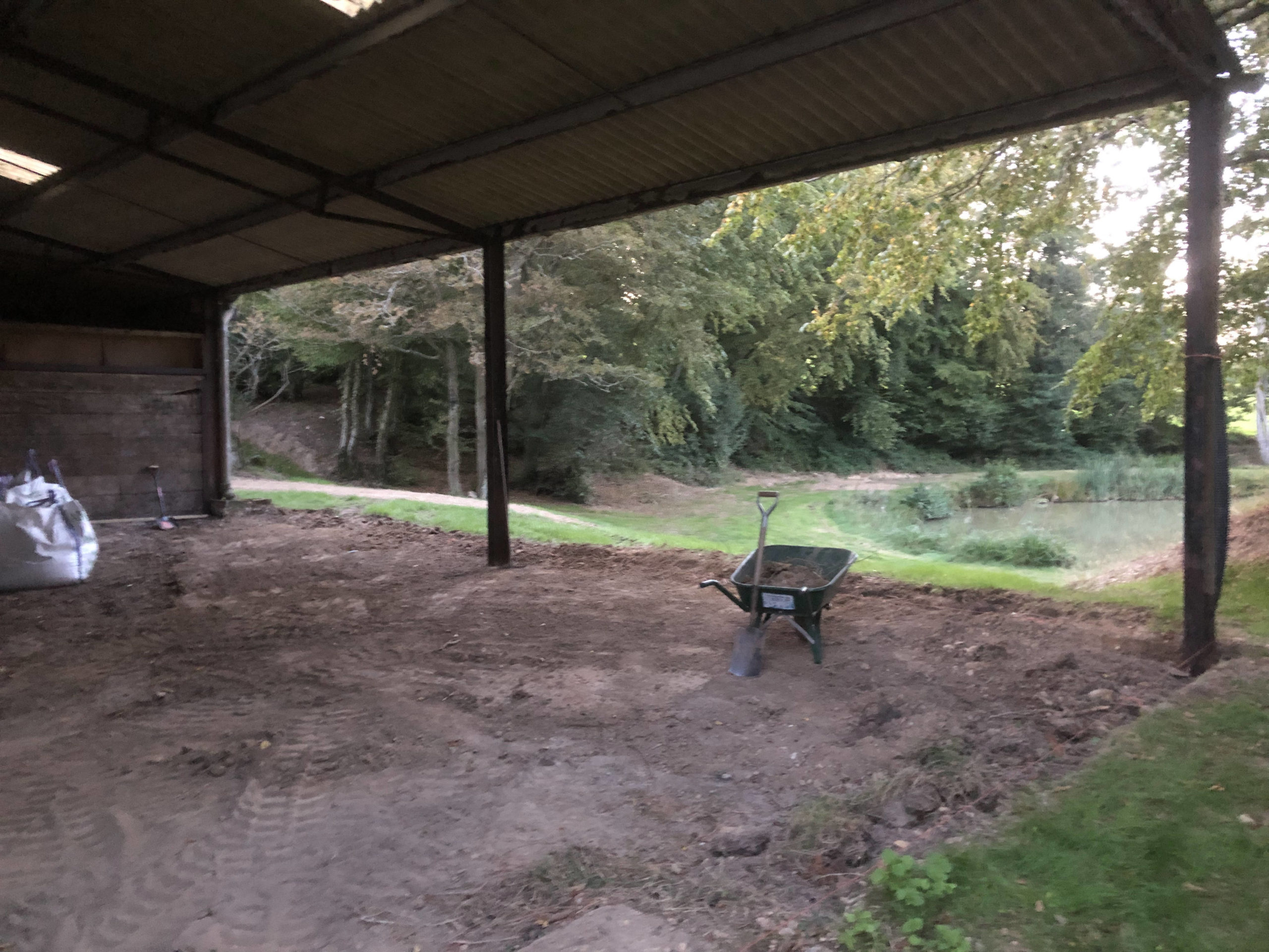 clearing out a barn ready for concreting east sussex