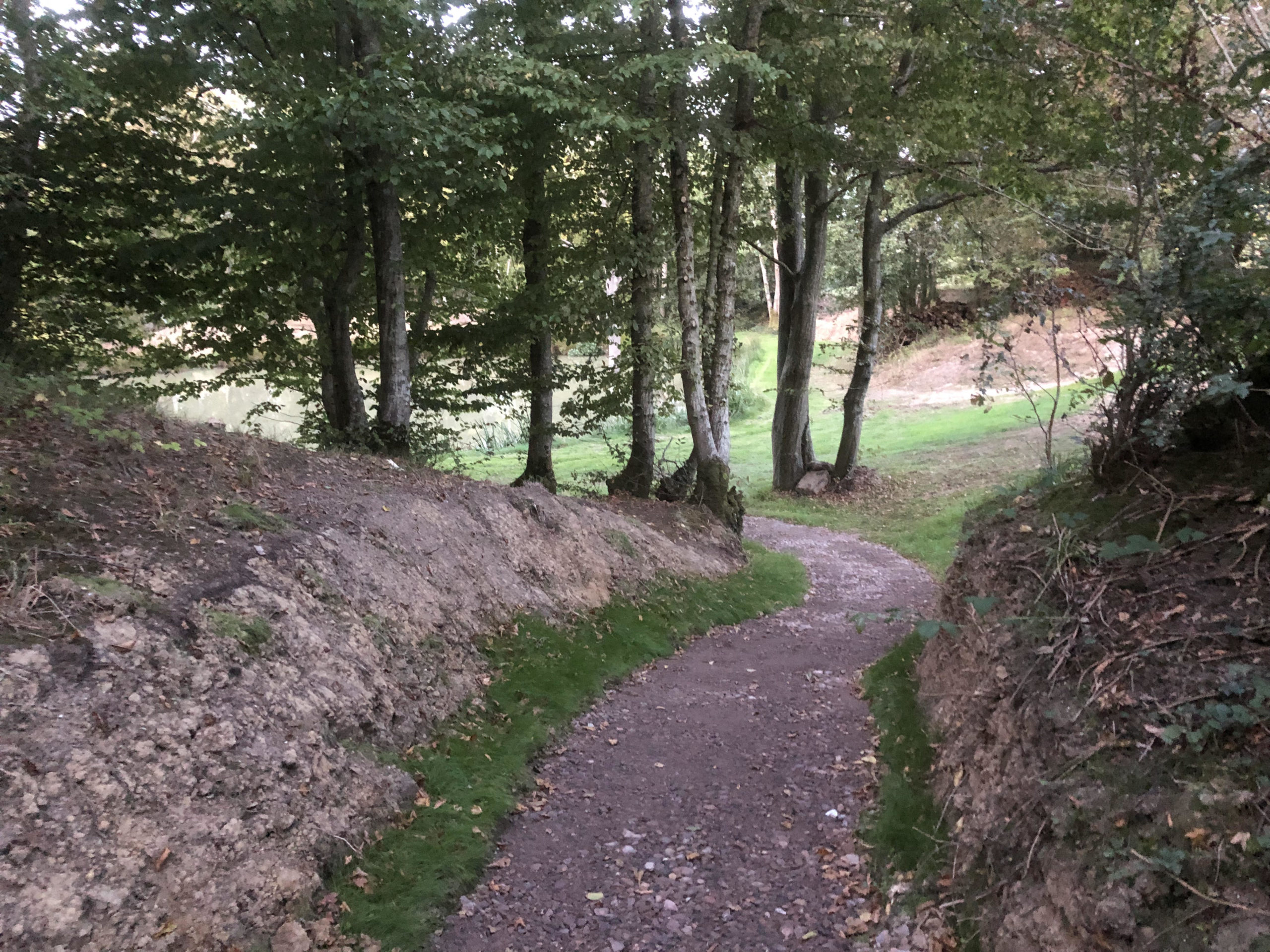 path to old oak lake in east sussex