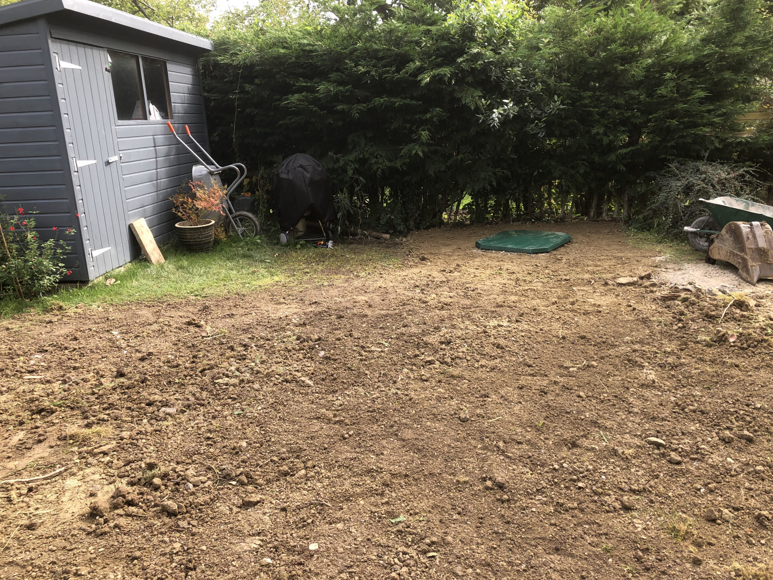 biopure sewage treatment plant installation east sussex landscaping