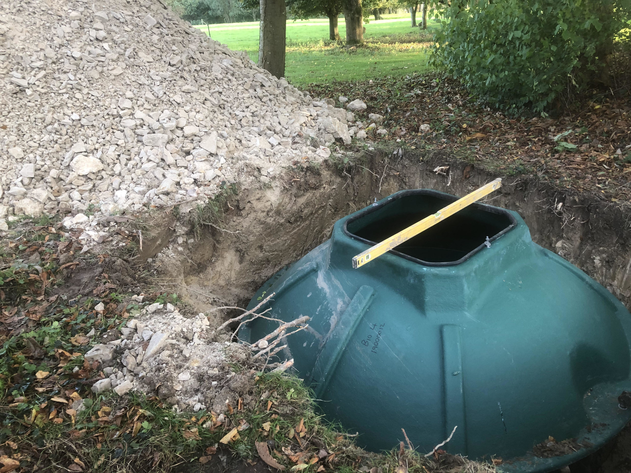 biopure sewage treatment plant installation east sussex levelling