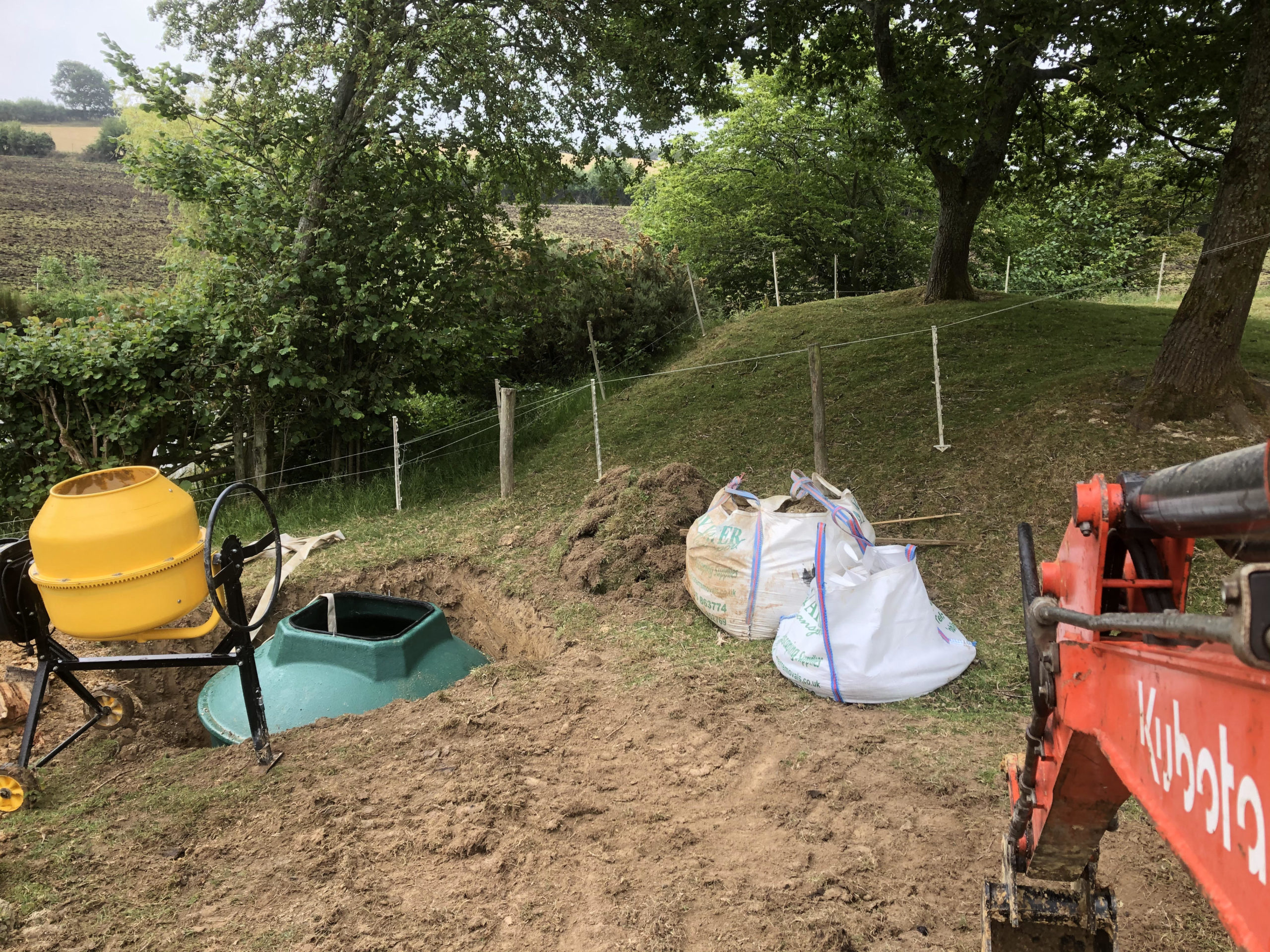 biopure sewage treatment plant installation in east sussex