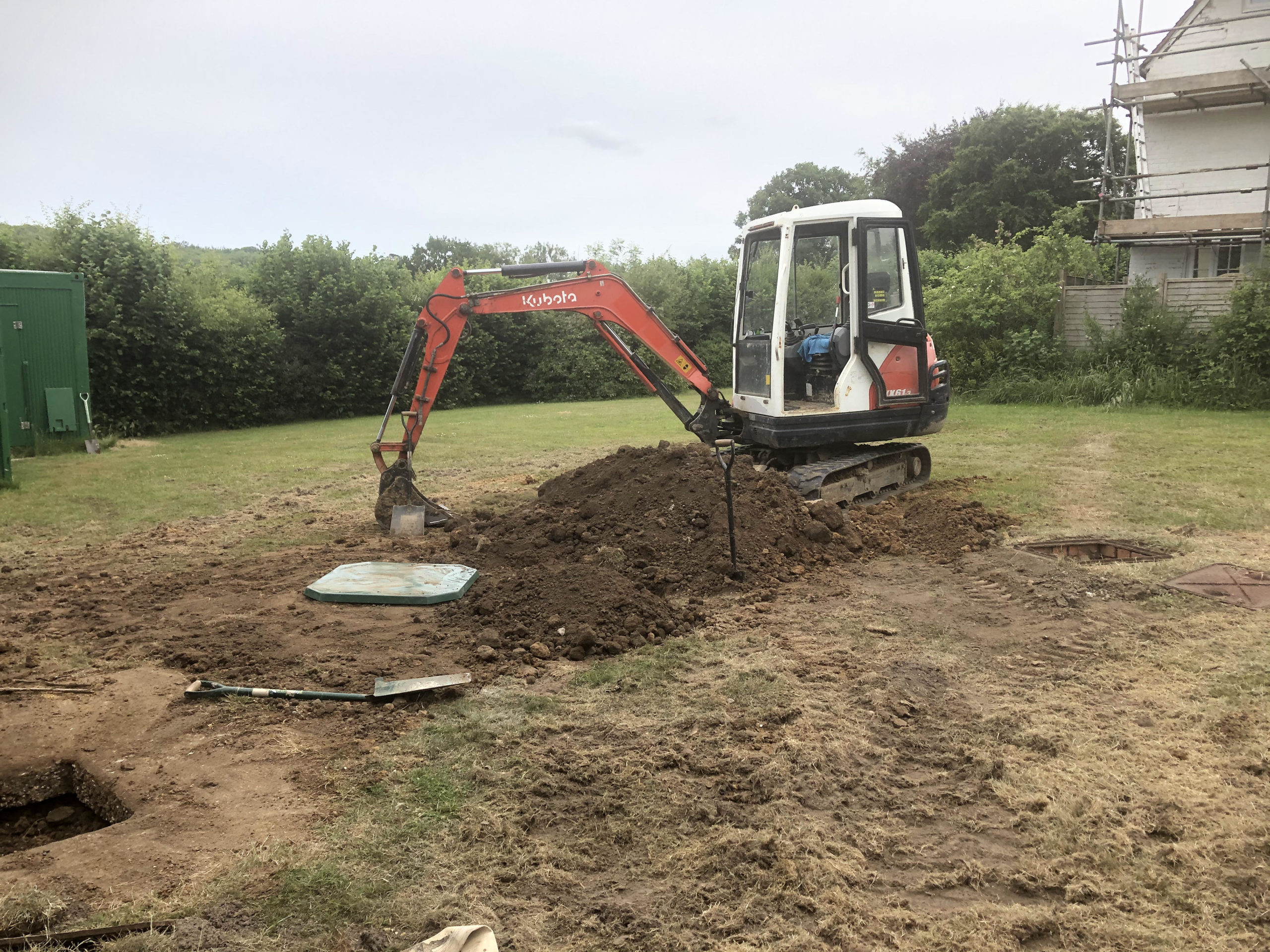 biopure sewage treatment plant installation east sussex tidying up
